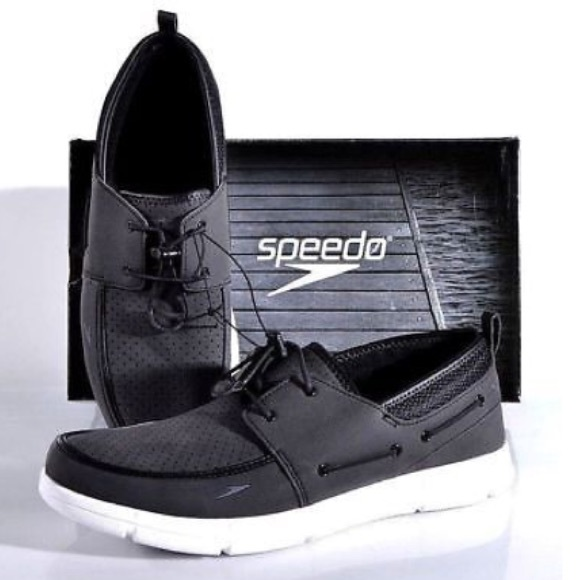 Speedo Men/'s Port Water Shoes Slip-on ~ Black ~ Various Sizes// Condition !